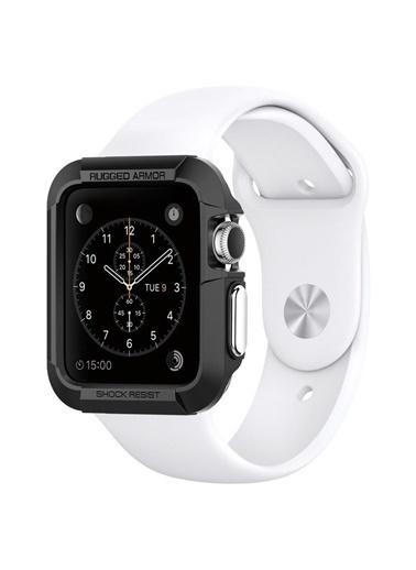 Spigen Spigen Apple Watch (38mm) Kılıf, Spigen Rugged Ar Siyah